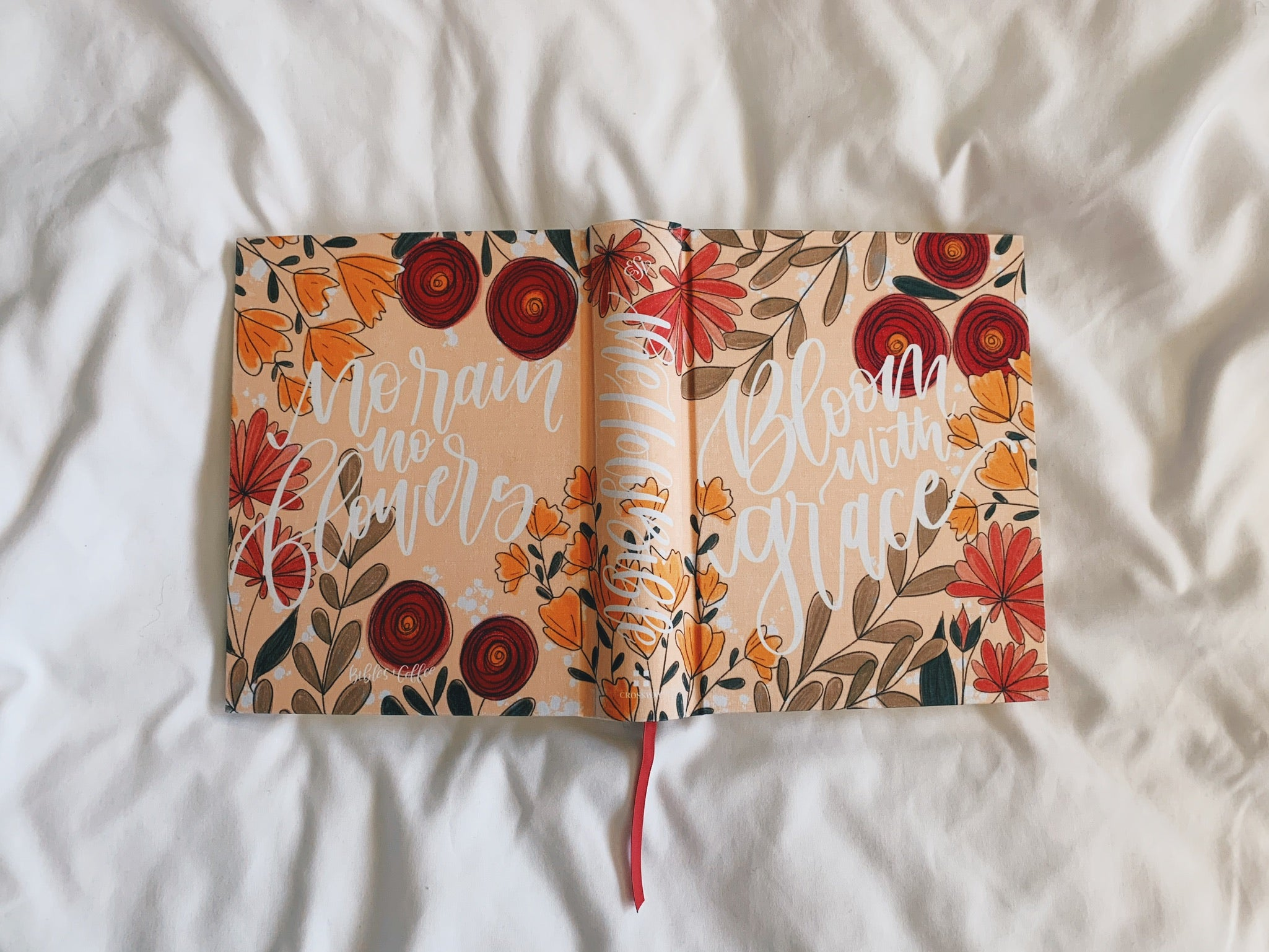 Full Bloom ESV Journaling Bible - Bibles and Coffee