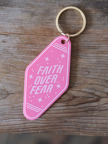 Faith Over Fear Keychain