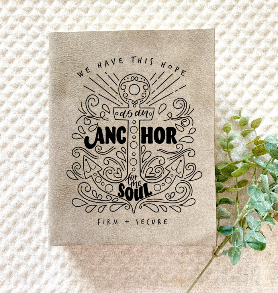 Anchor for the Soul Engraved Bible - Bibles and Coffee