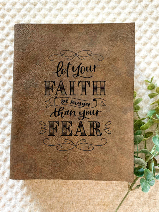 Let Your Faith Engraved Bible