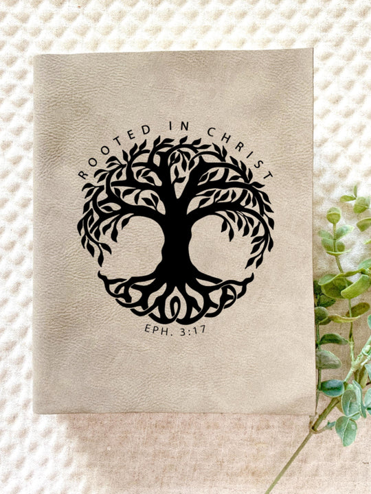 Rooted in Christ Engraved Bible