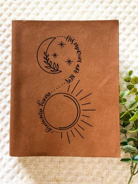 His Mercies Sun & Moon Engraved Bible