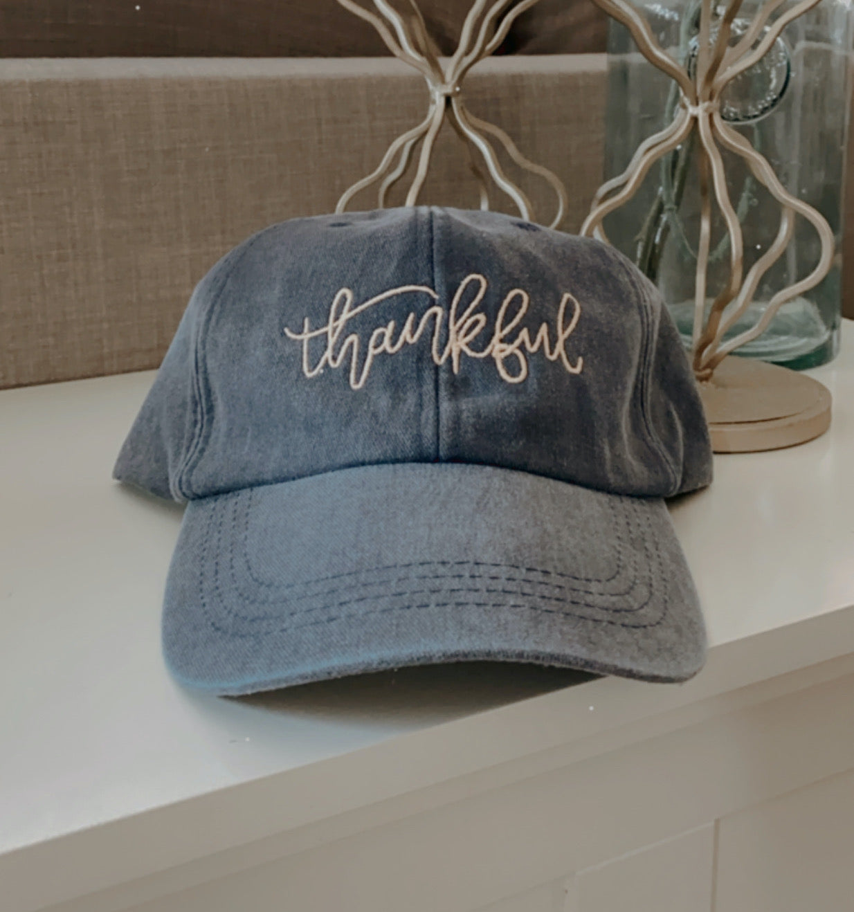 Thankful Embroidered Hat
