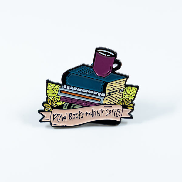 Read Books + Drink Coffee Enamel Pin