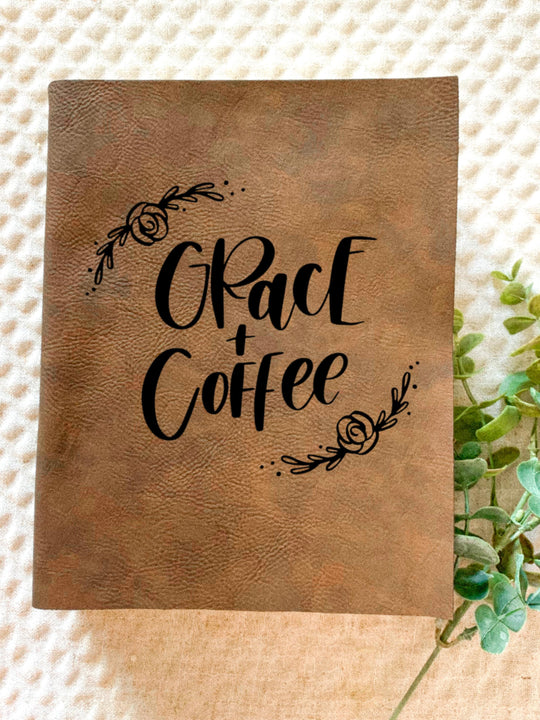 Grace and Coffee Engraved Bible