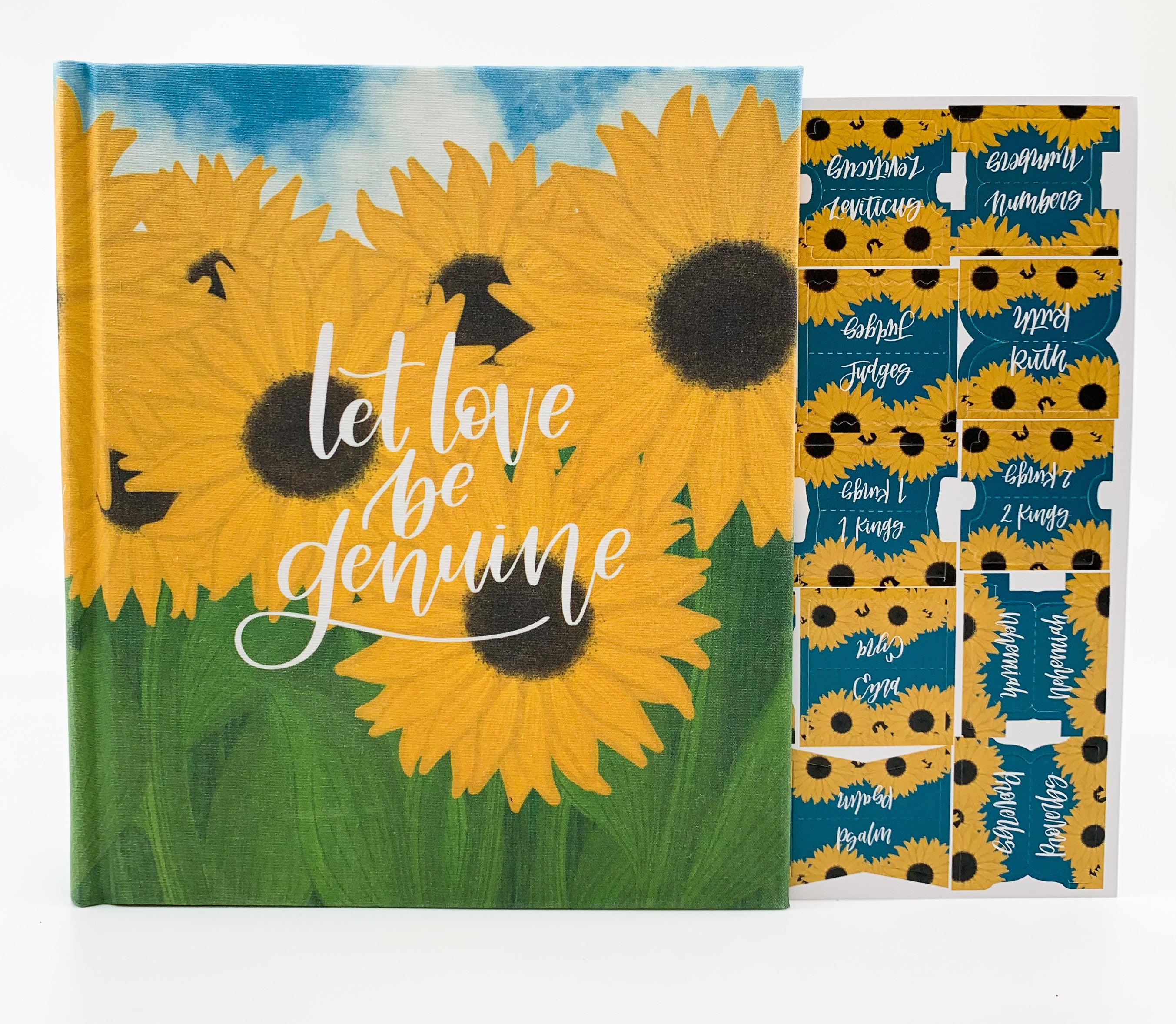 Sunflower Bible Tabs - Bibles and Coffee