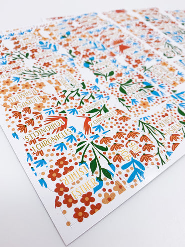 A Floral Story Bible Tabs