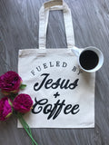 Fueled by Jesus and Coffee - Tote Bag