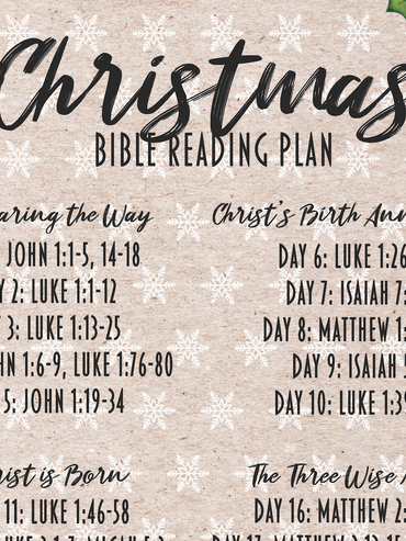 2020 Christmas Reading Plan