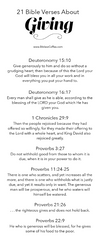 21 Bible Verses About Giving [FREE] - Bibles and Coffee