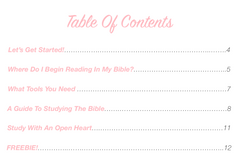 Study With Me Guide (A Guide to Reading the Bible) - Bibles and Coffee