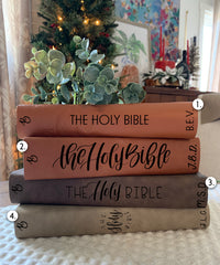 Grace and Coffee Engraved Bible - Bibles and Coffee