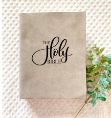 The Holy Bible (Mixed Text) Engraved Bible - Bibles and Coffee