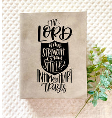 The Lord is My Shield Engraved Bible - Bibles and Coffee