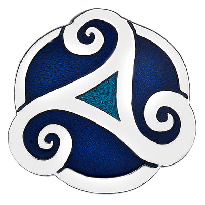 Sea Gems Triskele Proud Brooch - 7737 Blue