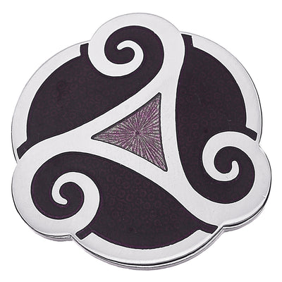 Sea Gems Triskele Proud Brooch - 7737 Purple