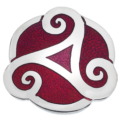Sea Gems Triskele Proud Brooch - 7737 Red