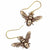Bronze Bee Earrings