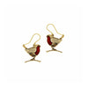 Robins on Branches Drop Earrings