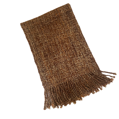 Earthy Merino Wool and Silk Scarf
