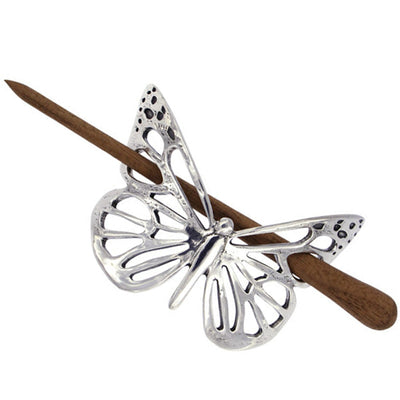 St Justin Butterfly hairslide with wooden pin