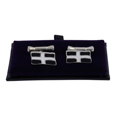 St Piran flag chain cufflinks (small) CC125