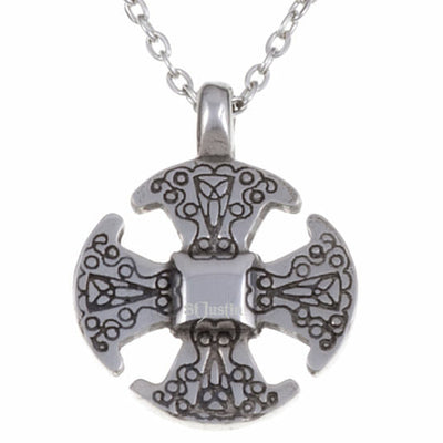 St Justin Canterbury Cross Necklet