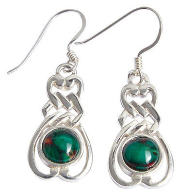 Heathergems Celtic Sterling Silver Drop Earrings