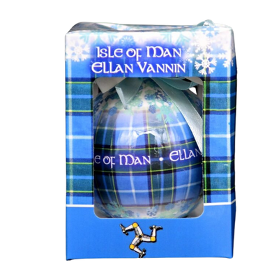 Isle of Man Tartan  Christmas Bauble