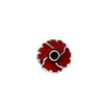 Poppy Plain Centre Lapel Pin
