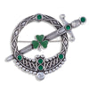 Shamrock Tara Sword Brooch
