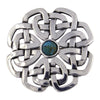 Celtic Rose Brooch with Stone