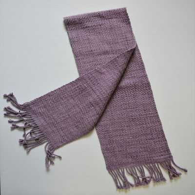 Scarf Short Silk and Merino Amethyst