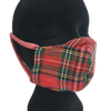 Red Tartan Face Mask