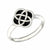 Enamelled Celtic Square Knot Ring