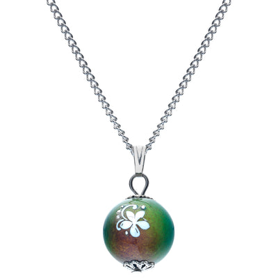 Sea Gems Floral Ball Mood Necklace C518
