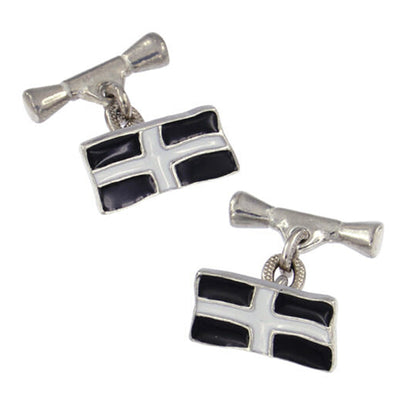 St Justin - St Piran flag chain cufflinks (small) CC125