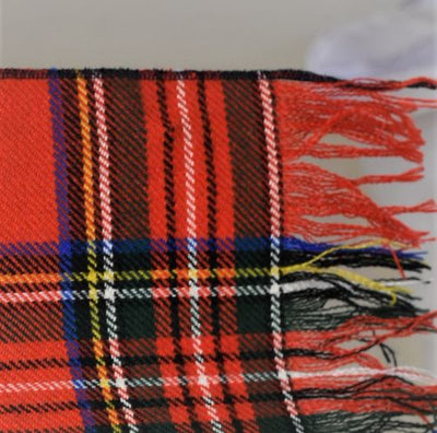 Long Scarf in Stewart Tartan