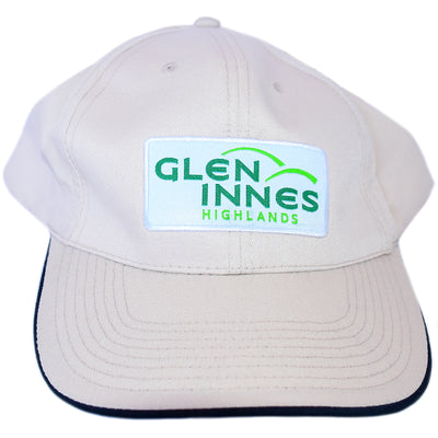 Cream Cap with Glen Innes Highlands logo