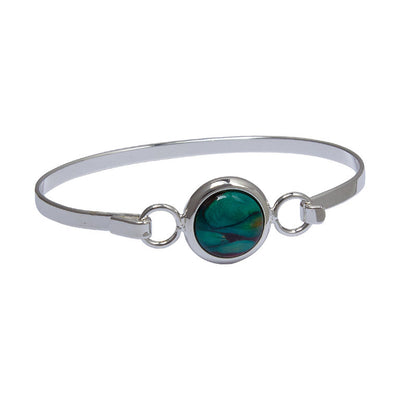 Heathergems Circle Silver Plated Bangle - HBA6