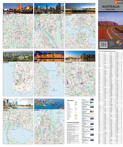 Hema Maps Australia Handy Map