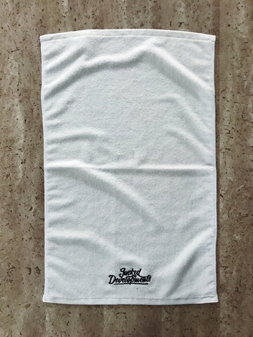 JD Gym Towel- White