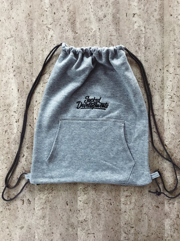 Grey JD Drawstring Bag
