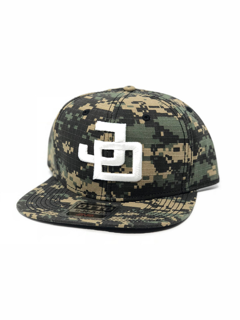 Camo/White JD Snap back
