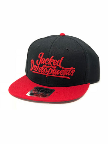 Black/Red retro snap back