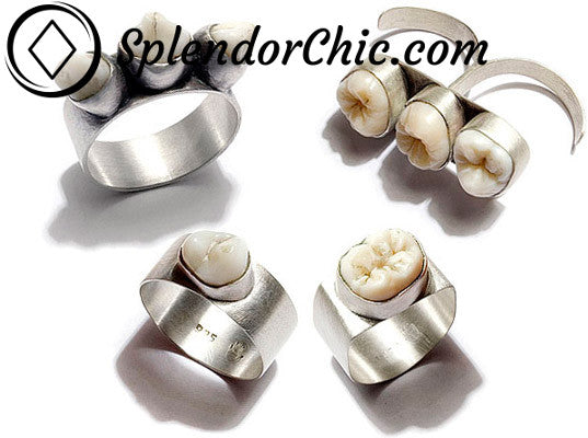 Human Teeth Jewellery Rings