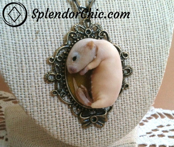 Taxidermy Jewellery Dead Rat Necklace