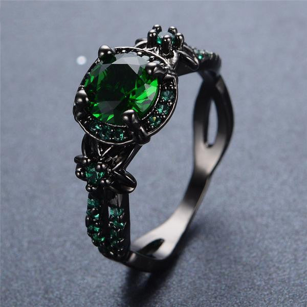 Black Gold Filled, Darkness Ring, Covetous Desire - Splendor Chic
