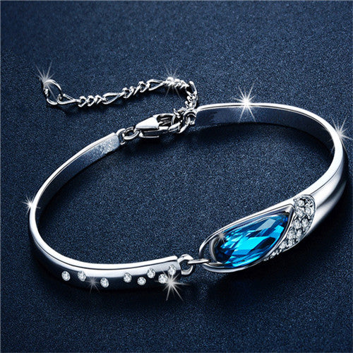 Teardrop Rhinestone Bracelet, Four Colours - Splendor Chic