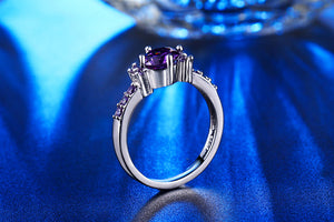 April Birthstone Ring, AAA Zirkonia, Lavendel - Splendor Chic